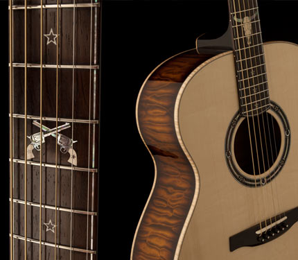 PRS Country Western guitar details