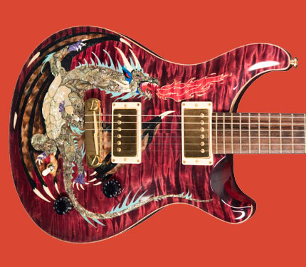 PRS Dragon 2000 guitar body detail