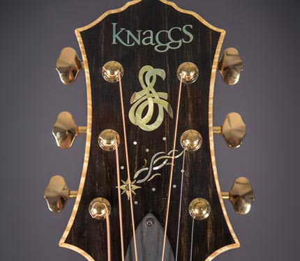 The Sifel Night Sky guitar, headstock inlay detail