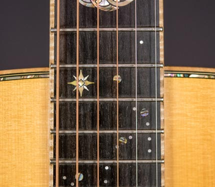 The Sifel Night Sky guitar, fret inlay detail