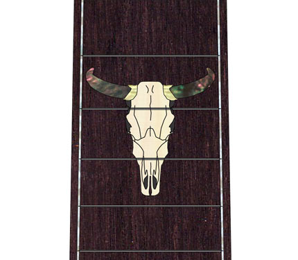 PRS Country Western skull Inlay mockup